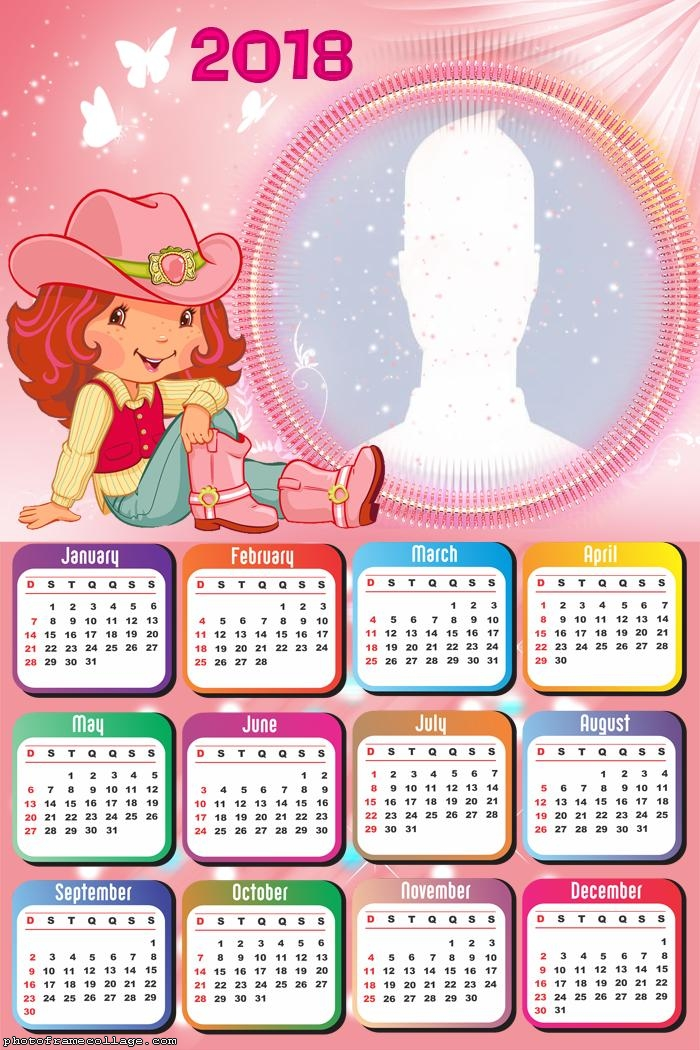 Calendar 2018 Strawberry Shortcake