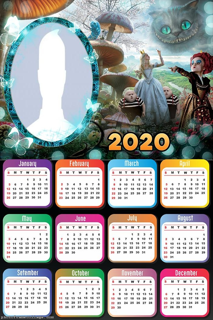 Alice in Wonderland Calendar 2020