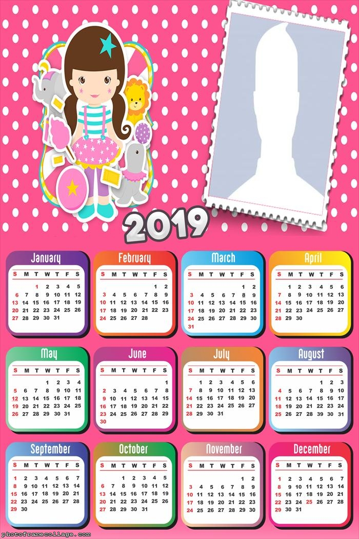 Circus for Girls Calendar 2019