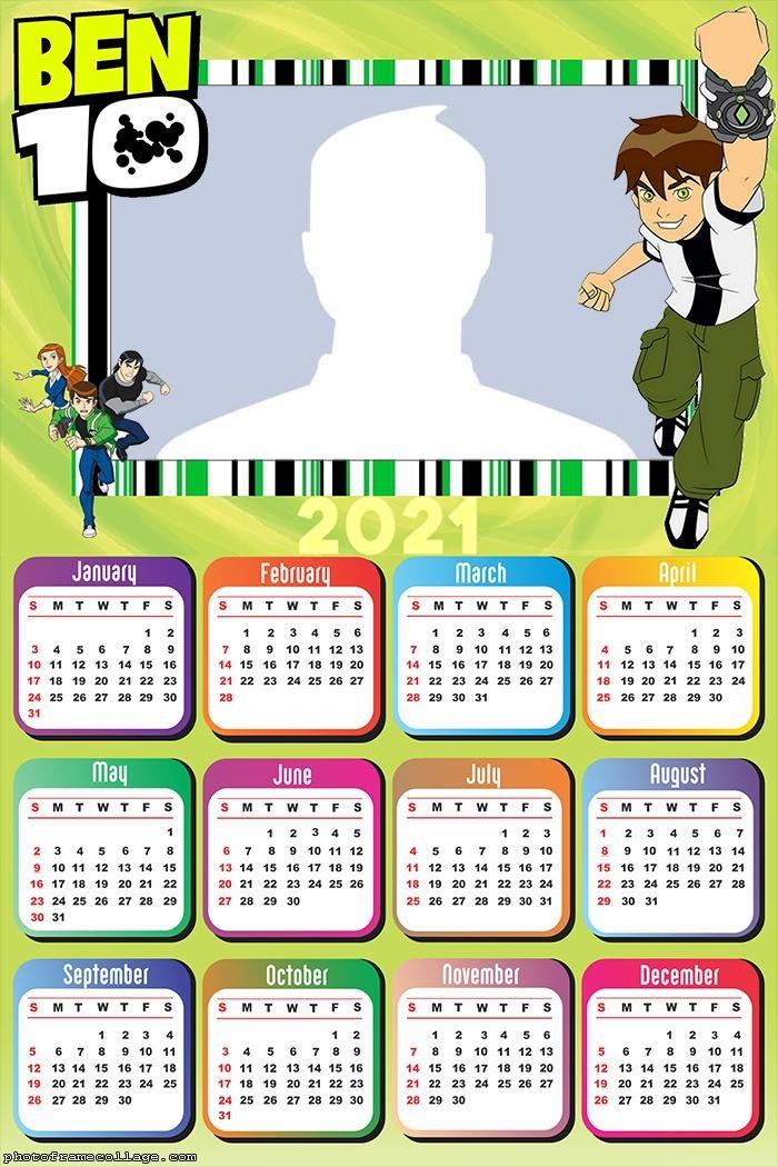 Calendar 2021 Ben 10