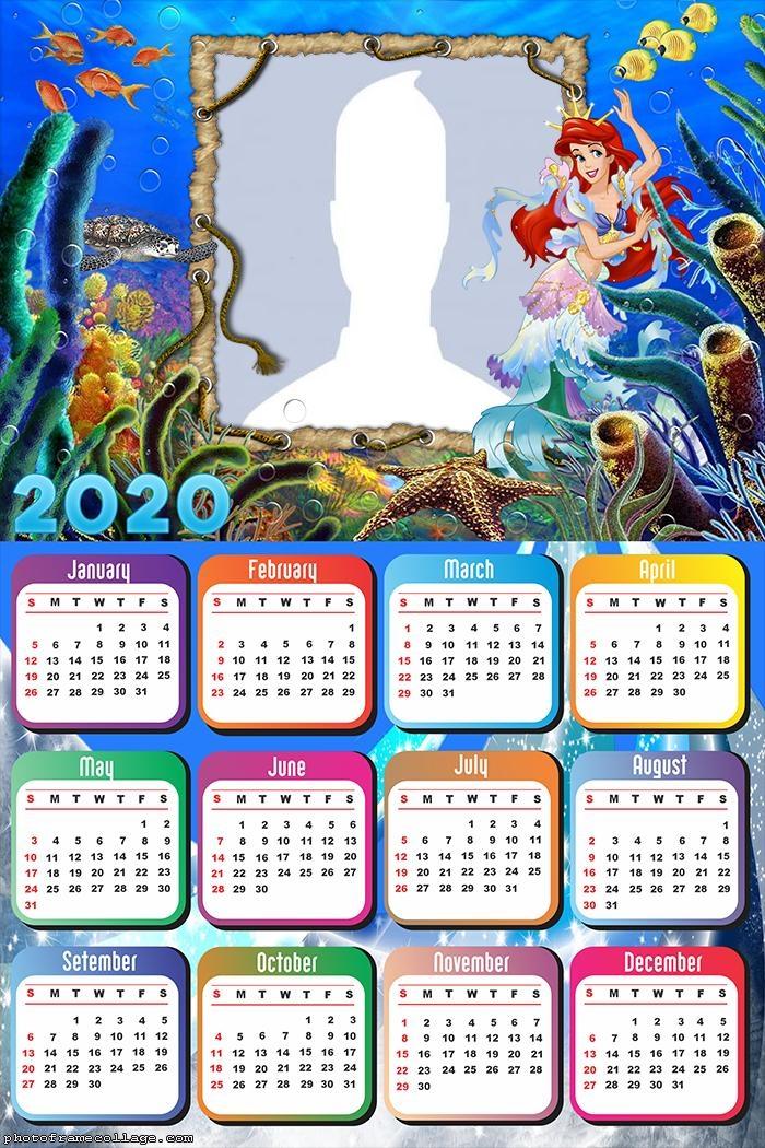 Calendar 2020 Sea Princess Ariel