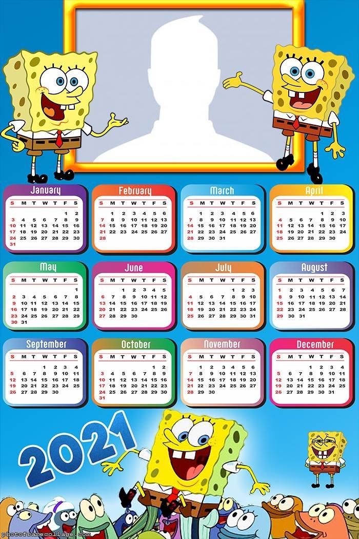 Calendar 2021 Sponge Bob
