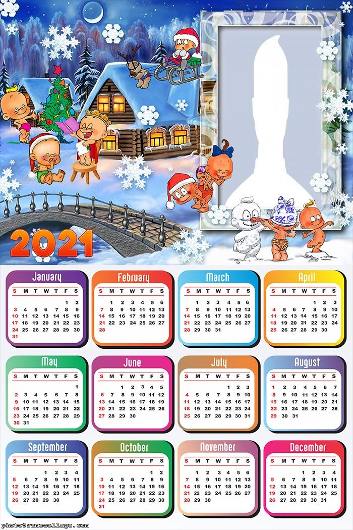 Calendar 2021 Babies at the North Pole Natal