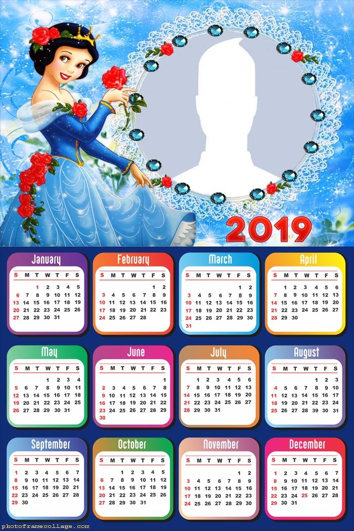Snow White Calendar 2019