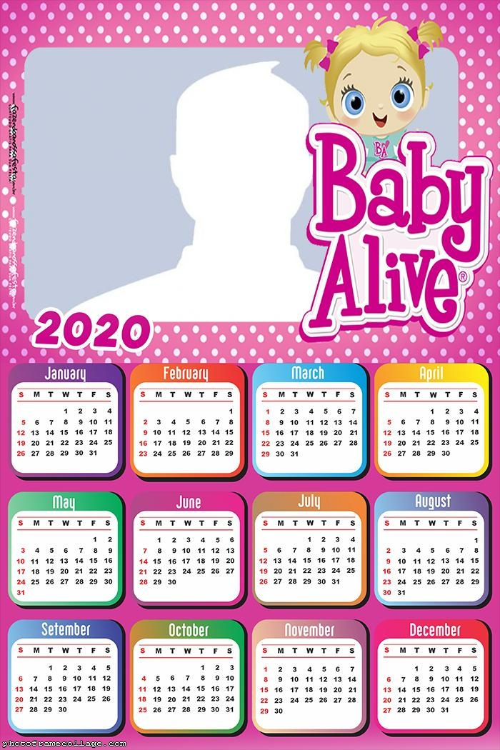 Photo Collage how to Make Baby Alive Calendar 2020
