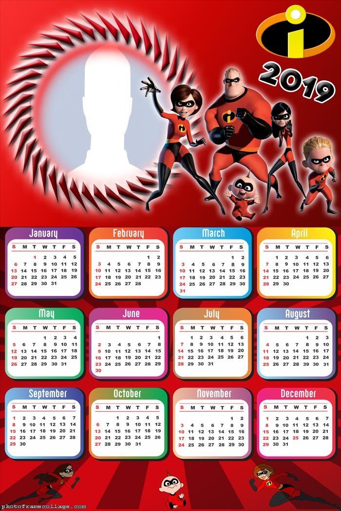 The Incredibles Calendar 2019