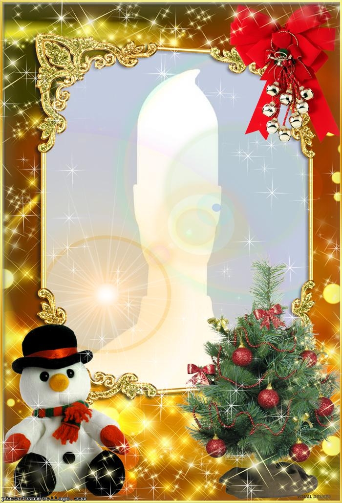 Snowman Toy Photo Collage