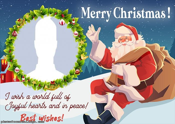 Santa Claus Best Wishes for You Photo to Collage