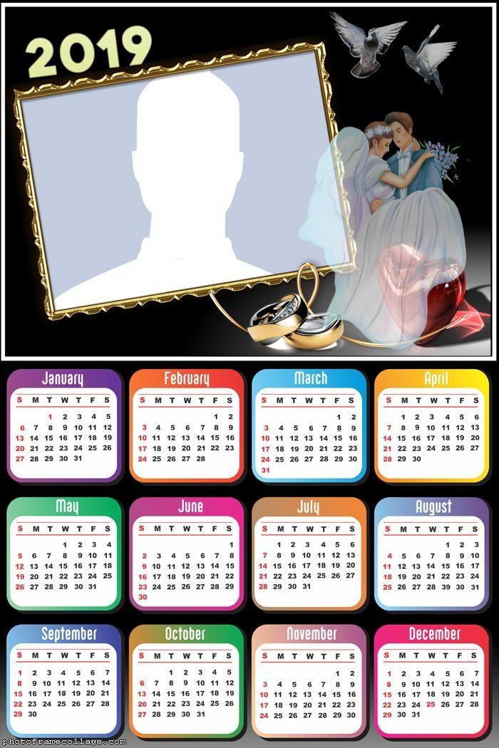 Wedding Calendar 2019