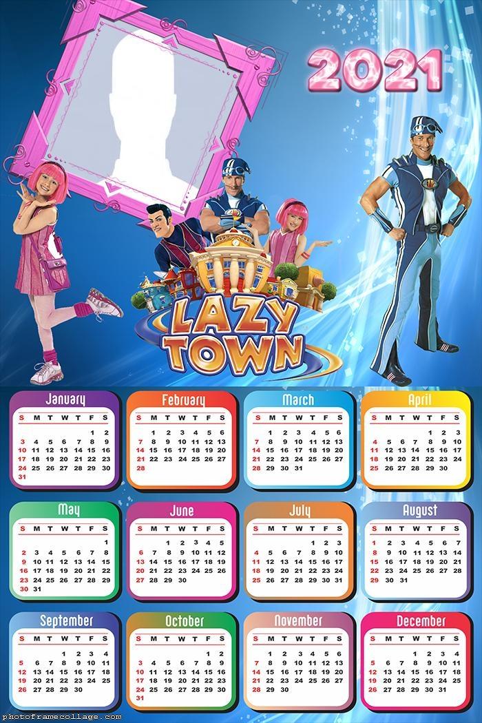 Calendar 2021 Lazy Town