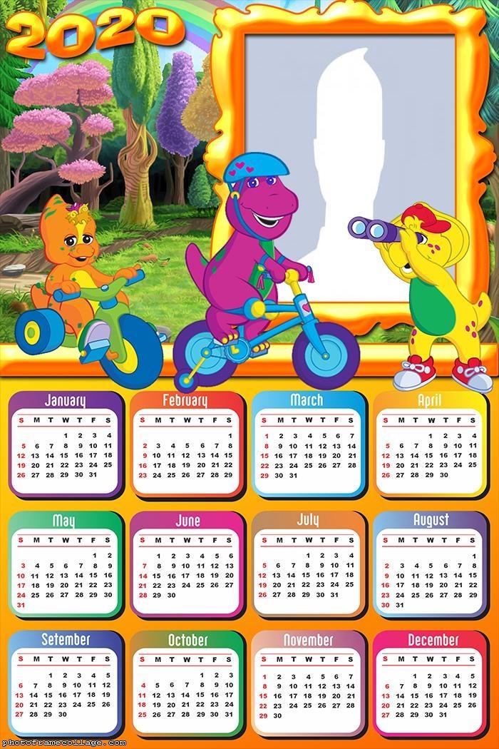 Barney Calendar 2020 Photo to Collage
