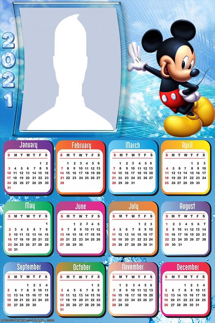 Calendar 2021 Mickey Mouse