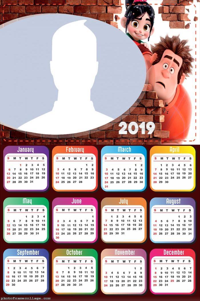 Wreck-It Ralph Calendar 2019