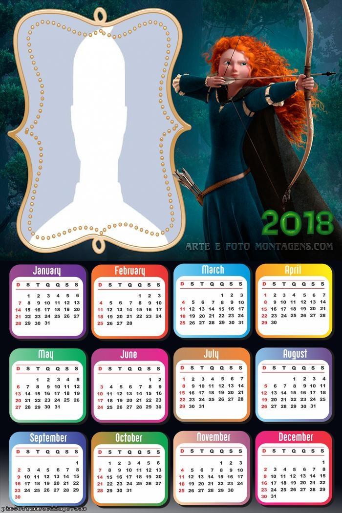 Calendar 2018 Brave Movie