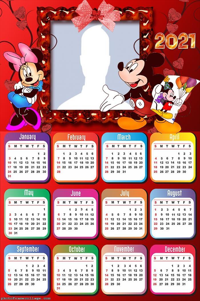 Calendar 2021 Mickey and Minnie