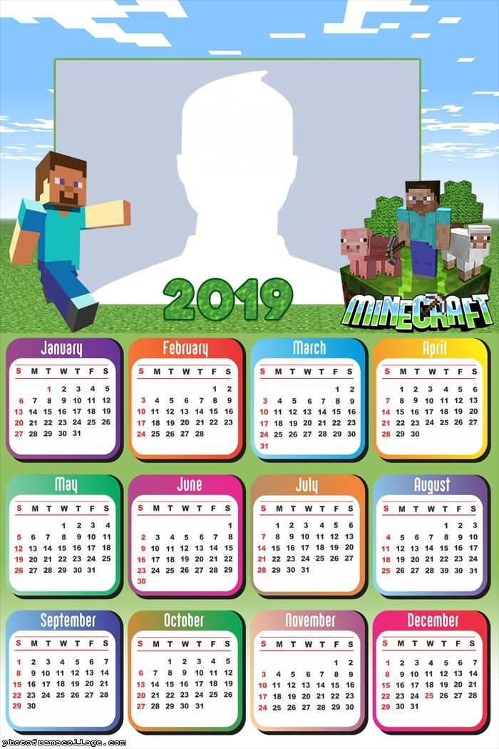 Minecraft Game Calendar 2019
