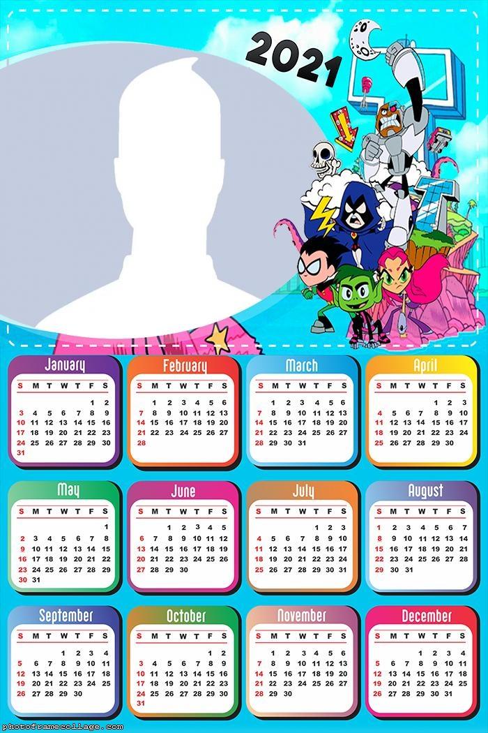 Teen Titans Calendar 2021