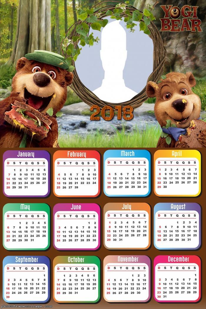 Calendar 2018 Yogi Bear