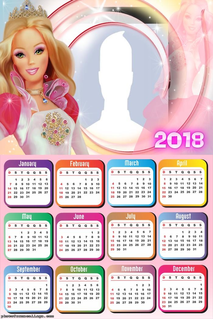 Calendar 2018 Barbie Doll