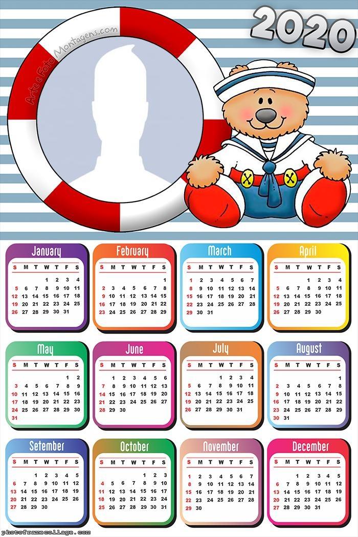 Teddy Bear Sailor Calendar 2020
