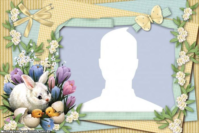 Rabbit and Chicks Frame | Photo Frame Collage