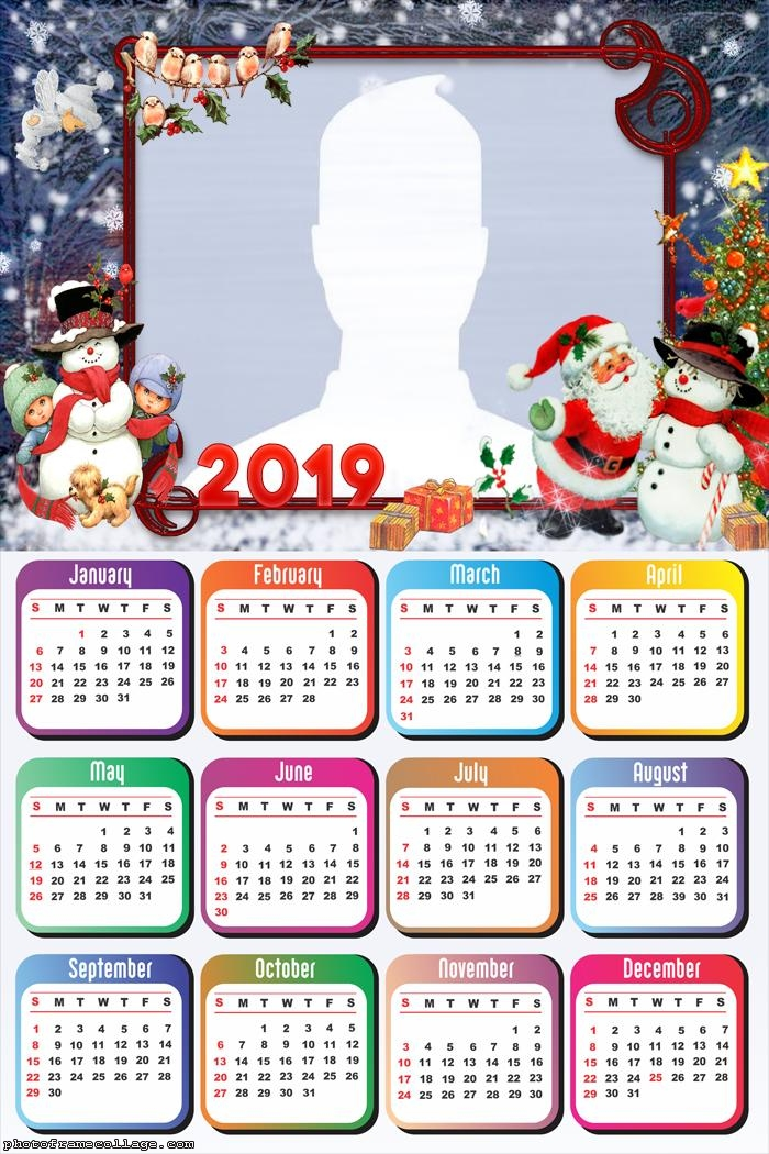 Calendar Christmas 2019 Christmas Mood Calendar 2019 | Photo Frame Collage