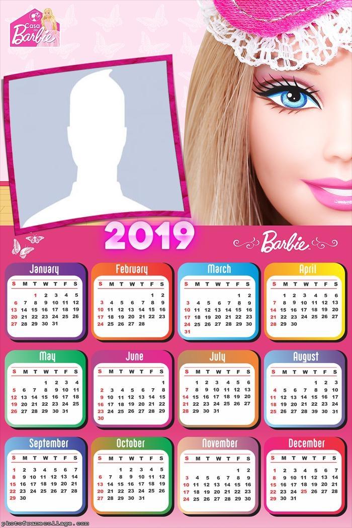 Barbie Face Calendar 2019