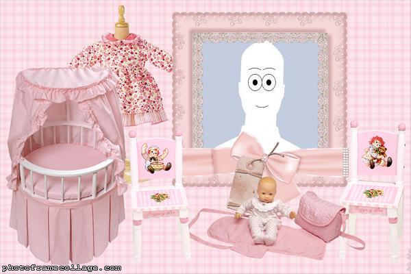 Photo Montage Pink Baby Room