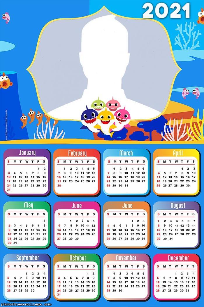 Calendar 2021 Baby Shark