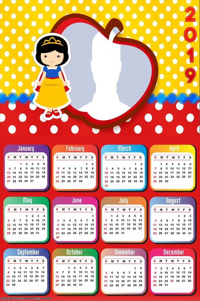 Snow White Princess Calendar 2019