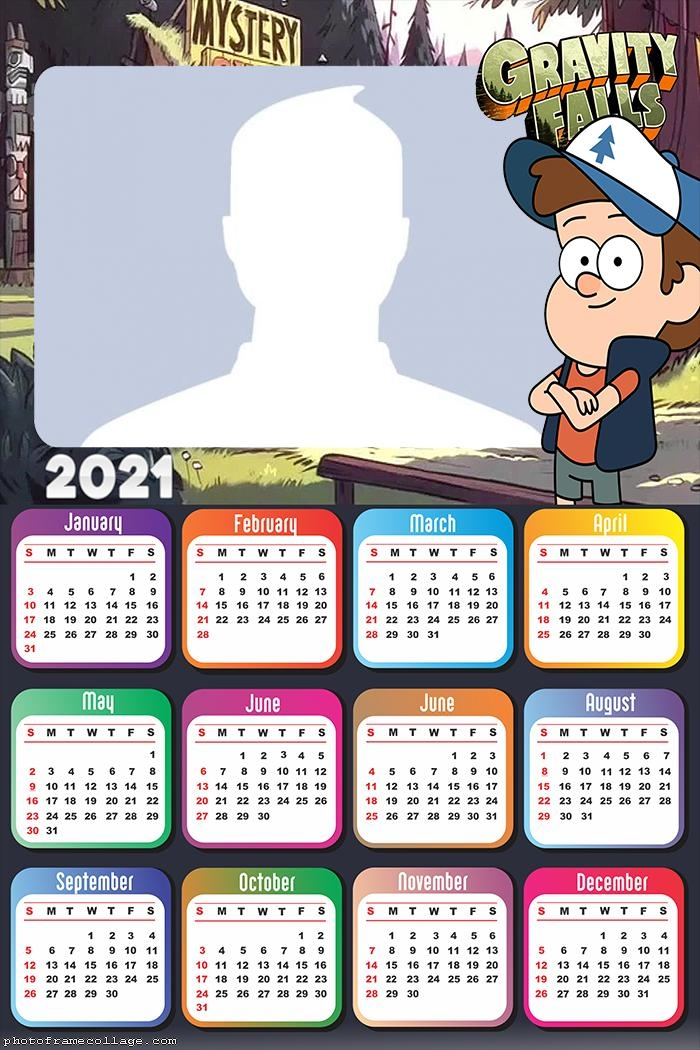 Calendar 2021 Dipper Gravity Falls