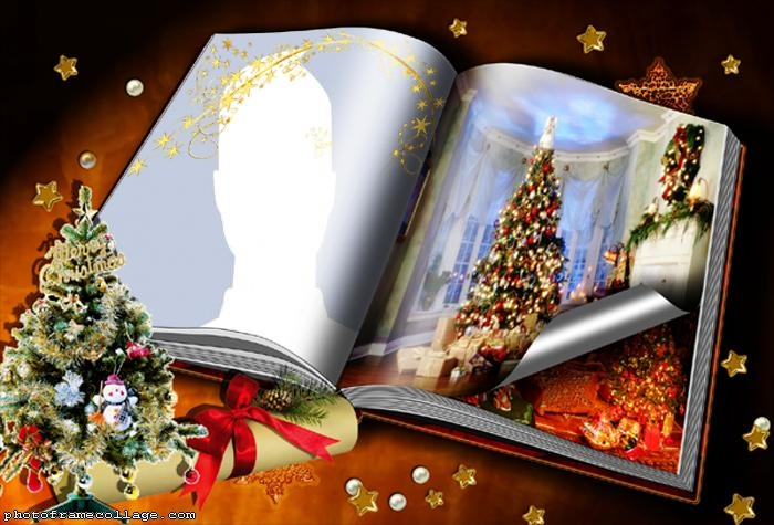 Christmas Book Photo Collage