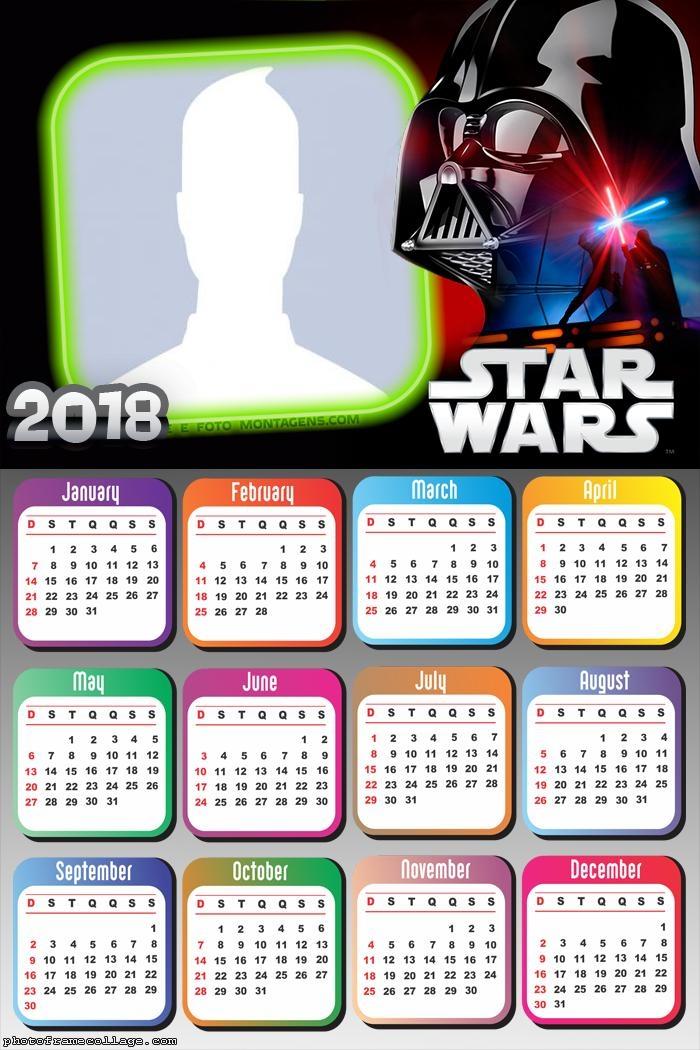Calendar 2018 Starwars