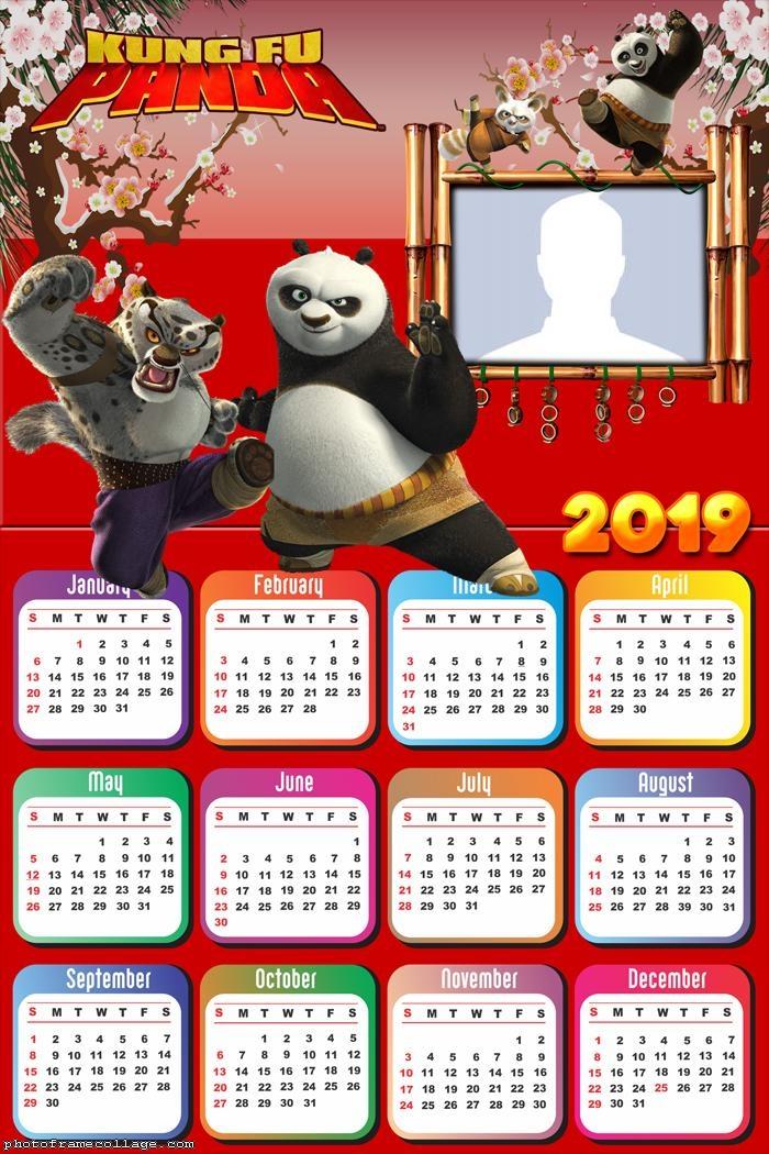 Kung Fu Panda Calendar 2019