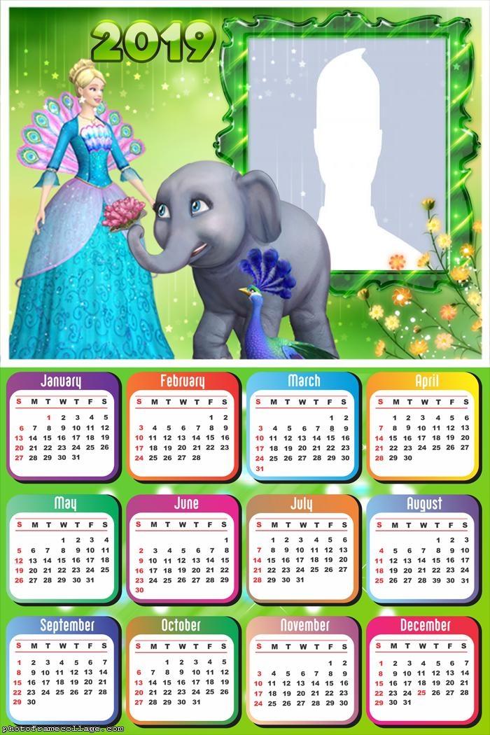 Barbie The Island Princess Calendar 2019