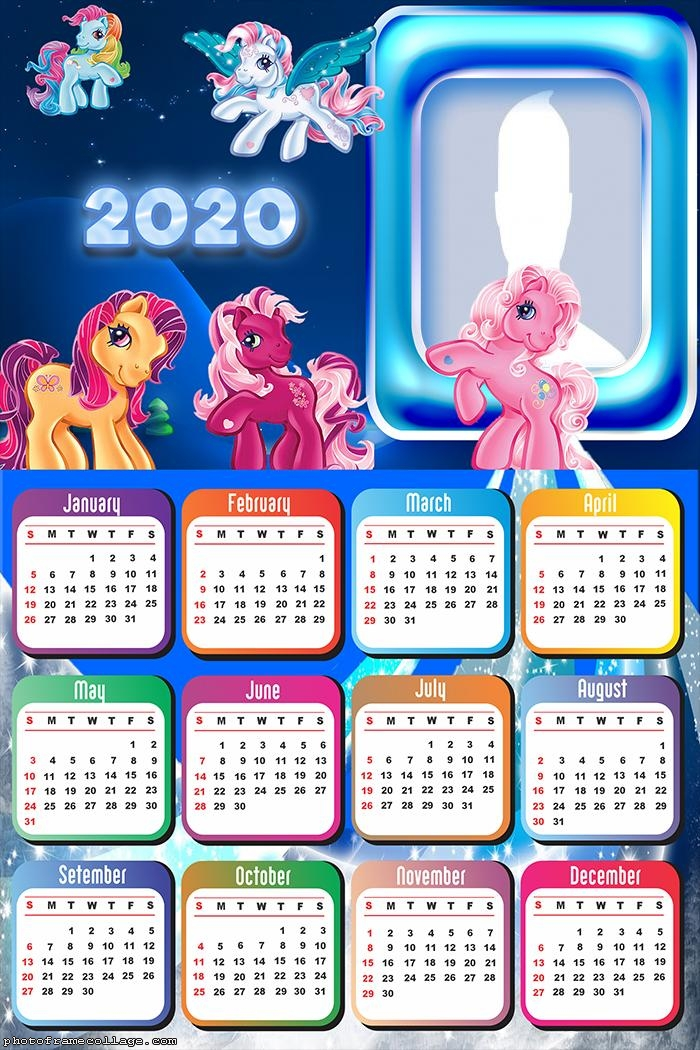 Ponies Calendar 2020 Kids