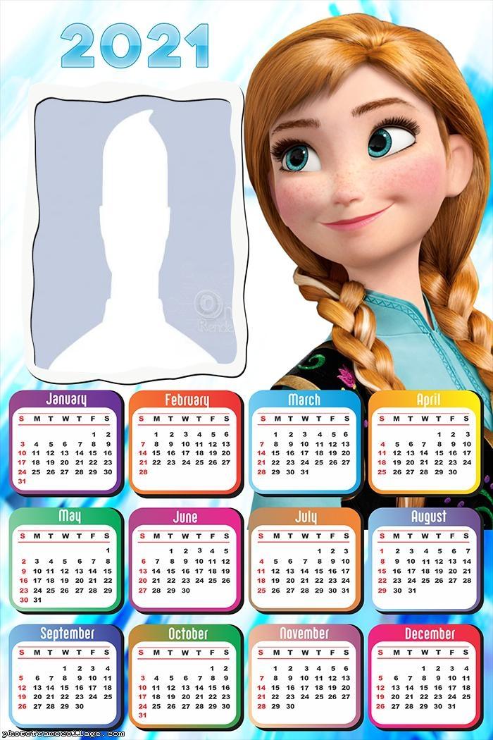 Calendar 2021 Anna Frozen Dresses