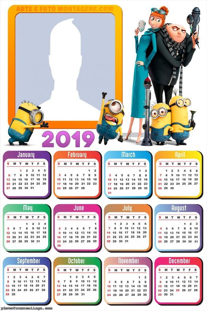 Despicable Me Calendar 2019