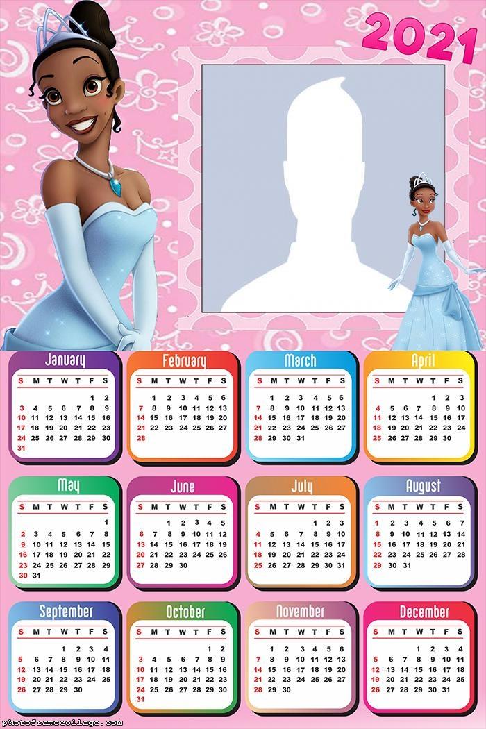 Princess Tiana Calendar 2021
