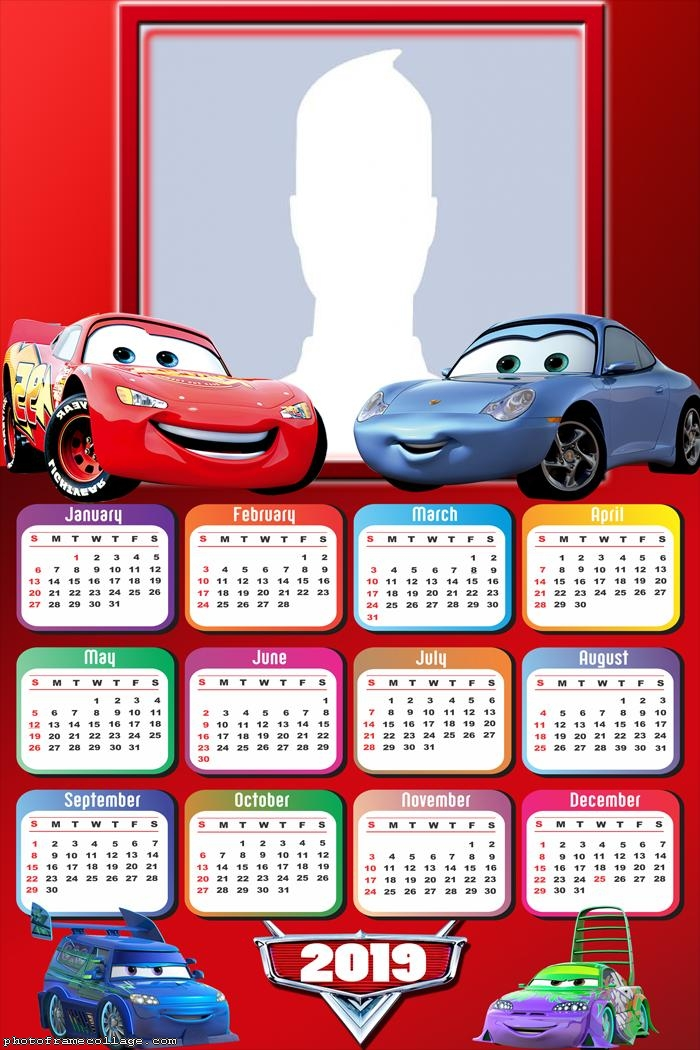 Cars Calendar 2019 Photo Collage