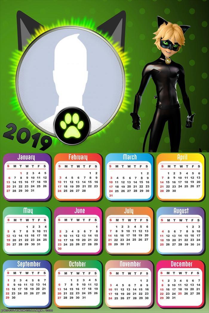 Cat Noir Calendar 2019