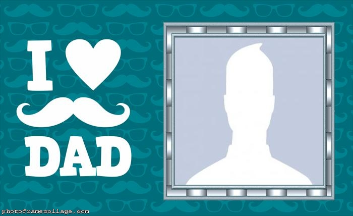 I Love Dad Photo Collage