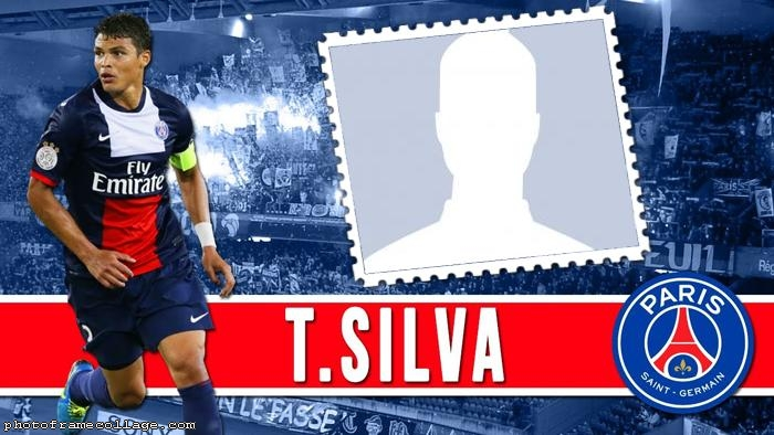 Thiago Silva of PSG Photo Collage