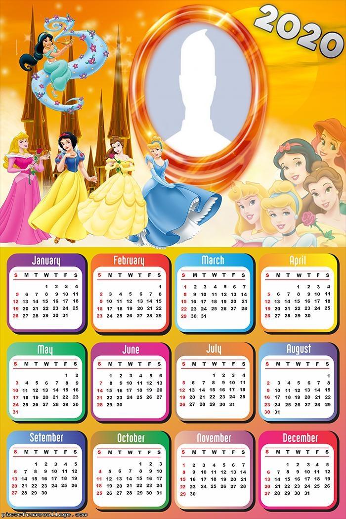 Princess Disney Calendar 2020