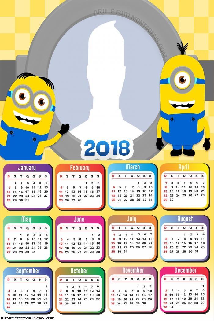 Calendar 2018 Minions
