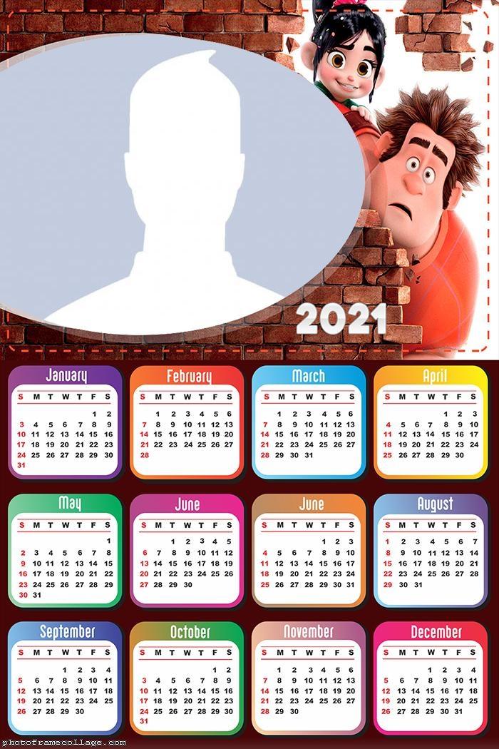 Calendar 2021 Wreck-It Ralph