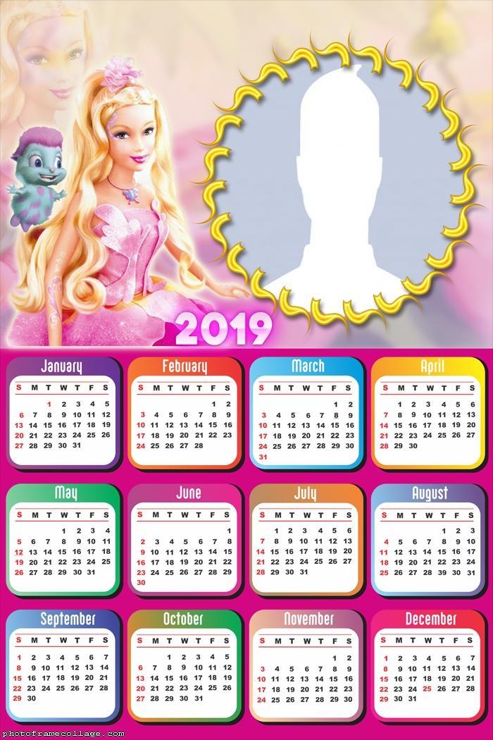 Barbie Butterfly Calendar 2019
