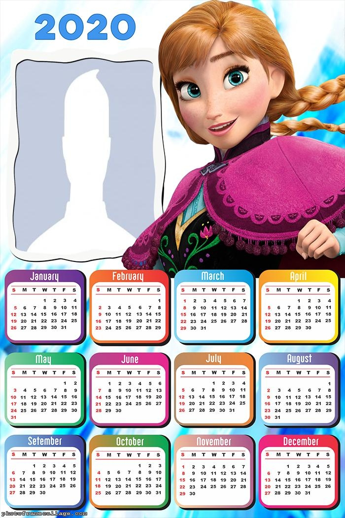 Calendar 2020 Princess Frozen Anna