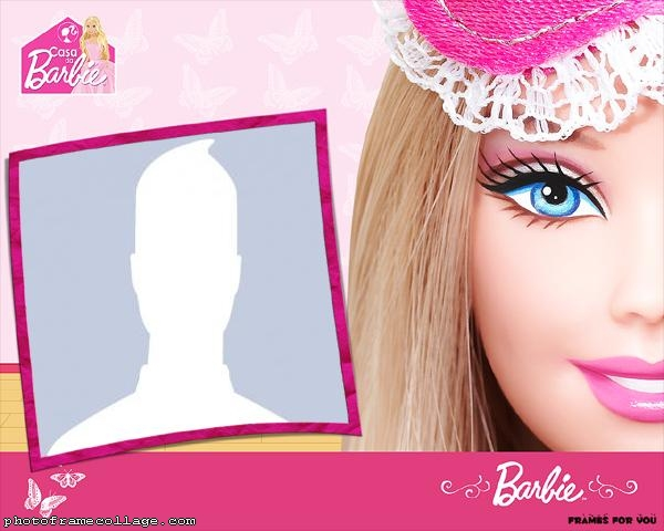 Barbie Face Photo Collage