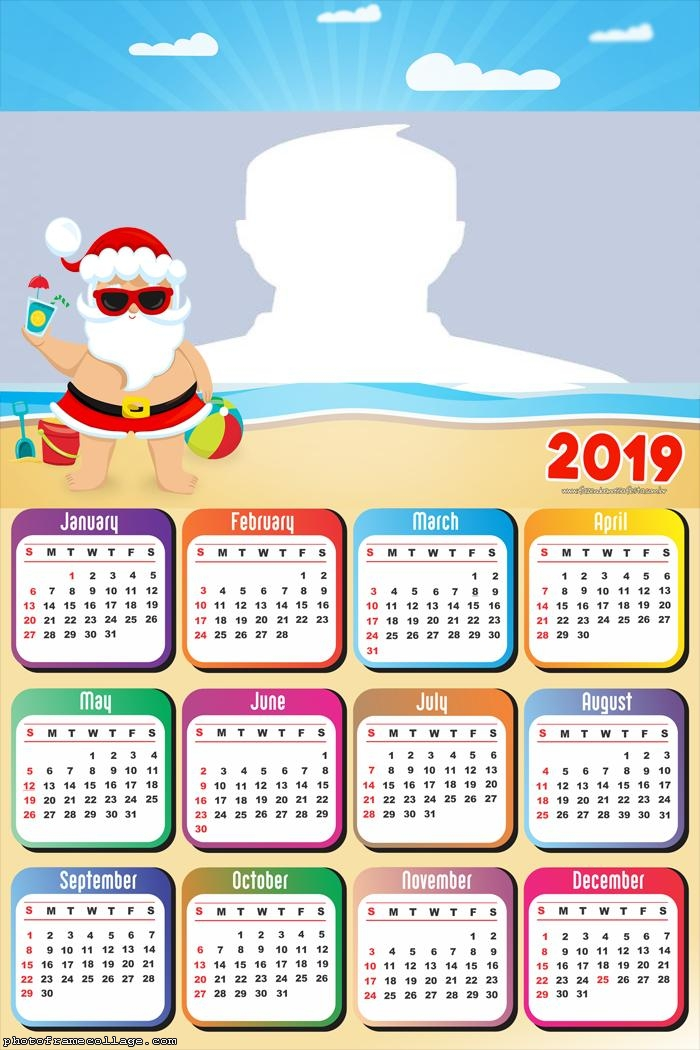 Holiday Santa Claus Calendar 2019